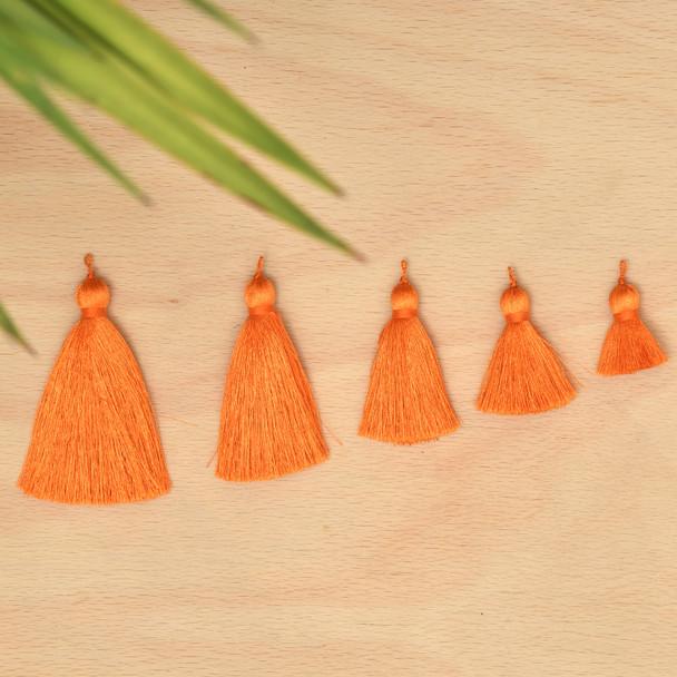 Silk Tassel,DIY Craft Supplies Handmade Jewelry Tassels - ORANGE Tassle / Tassles