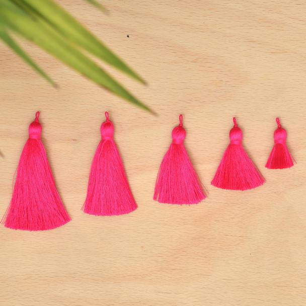 Silk Tassel,DIY Craft Supplies Handmade Jewelry Tassels - PINK Tassle / Tassles
