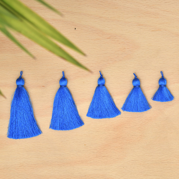 Silk Tassel,DIY Craft Supplies Handmade Jewelry Tassels - Royal Blue Tassle / Tassles
