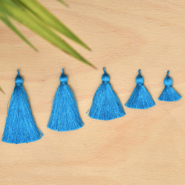 Silk Tassel,DIY Craft Supplies Handmade Jewelry Tassels - Turquoise Tassle / Tassles