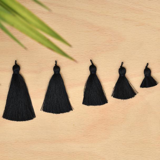 Silk Tassel,DIY Craft Supplies Handmade Jewelry Tassels - Navy Blue Tassle / Tassles