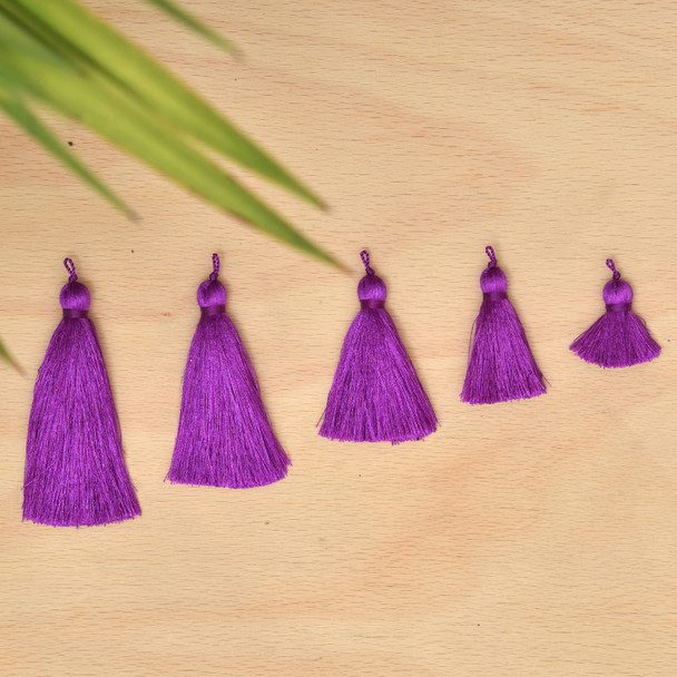 Silk Tassel,DIY Craft Supplies Handmade Jewelry Tassels - Purple Tassle / Tassles