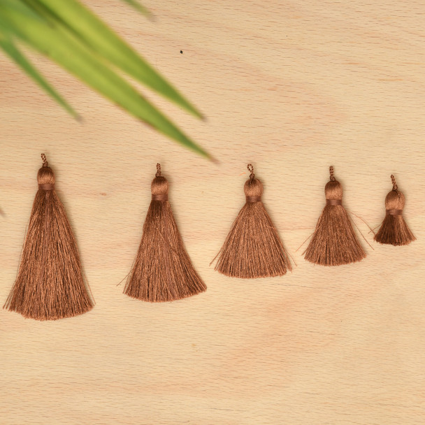 Silk Tassel,DIY Craft Supplies Handmade Jewelry Tassels - Mid Brown Tassle / Tassles