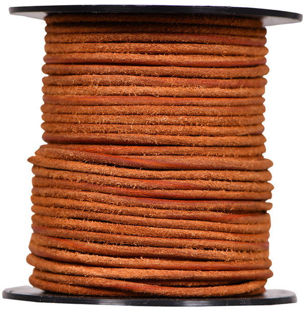 Round Suede Leather Cords- 1.5 MM -Light Brown-Choose Length
