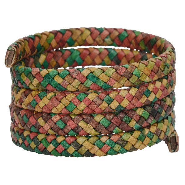 Gypsy Kinte Flat Braided Bracelet Leather Cord 8 mm 1 Meter