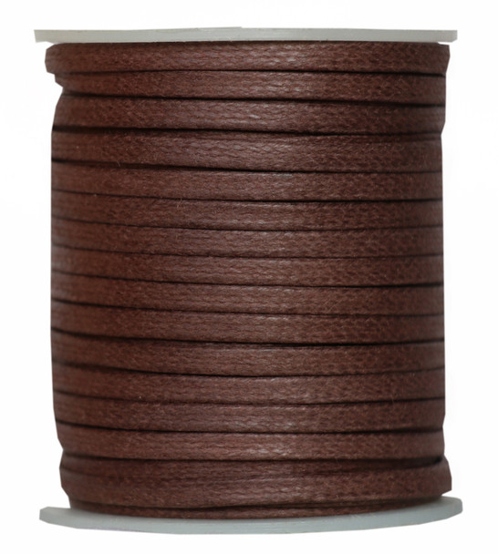Brown Flat Cotton Cord -3.5 MM * 1.0 MM Waxed Cotton Cords-25 Meter Spool