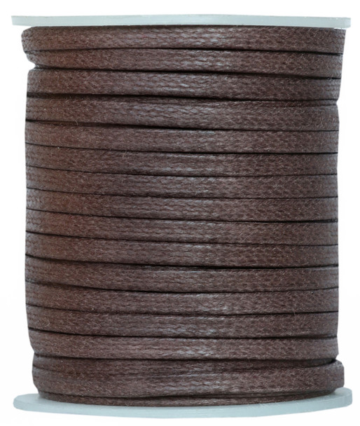 Dark Brown Flat Cotton Cord -3.5 MM * 1.0 MM Waxed Cotton Cords-25 Meter Spool