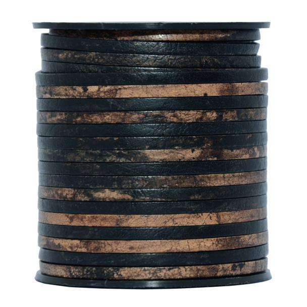 Gypsy Sippa Flat Leather Cord  3mm x 2mm - 1 Yard