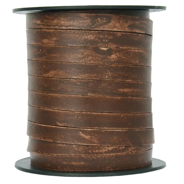 Antique Wood- Flat Leather Cord 10mm*1mm -1 Yard