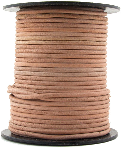 Natural  Round Leather Cord 1.0mm 50 meters