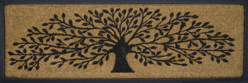 Photo of a wide door mat with a tree of life print
