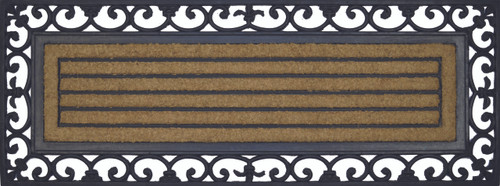 Coir Rubber Scroll Mat With Rubber Back Long For Double Doorways