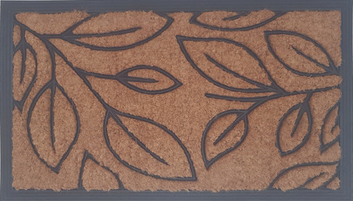 Coir Rubber Mat With Leaf Pattern Small