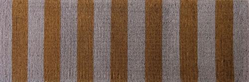 Coir white stripe mat