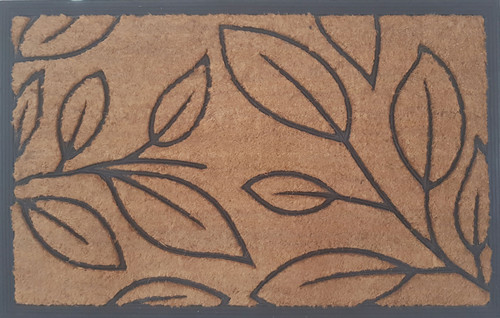 Coir Rubber Leaf Door Mat