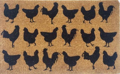 Chicken Printed Premium Quality Coir Door Mat