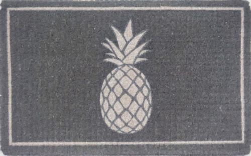 Pineapple Printed Premium Quality Grey Coir Door Mat
