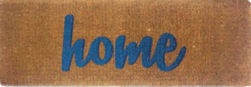 Home Printed in Blue Premium Quality Coir Large Door Mat