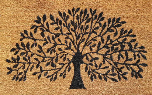 PVC Backed Coir with Tree of Life 50 x 80cm