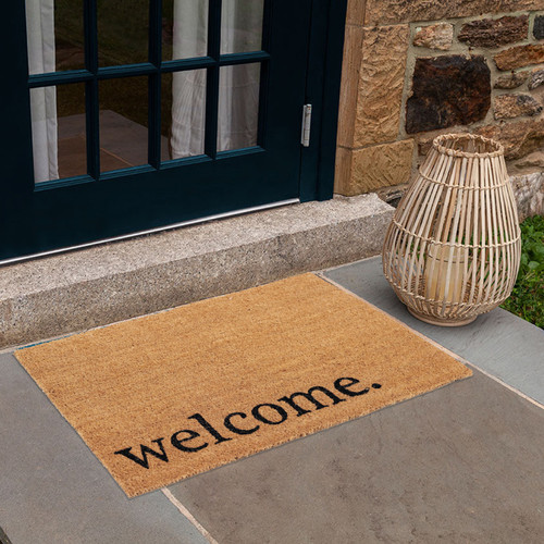 PVC Backed Coir Mat 15mm with printed Welcome 60 x 90cm