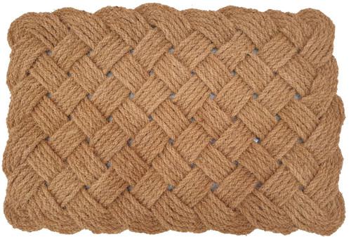 Natural Coir Love knot Rope  Mat 60 x 90cm