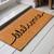 Premium Natural Coir 40mm Doormat Black Script Welcome print 55x 120cm