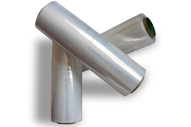 "STRETCH FILM 18"" CLEAR 1500FT 4 Rolls 80 GAUGE CLASS A - 7 LAYERS"