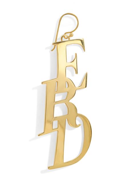 LARGE MONOGRAM EARRING - GOLD