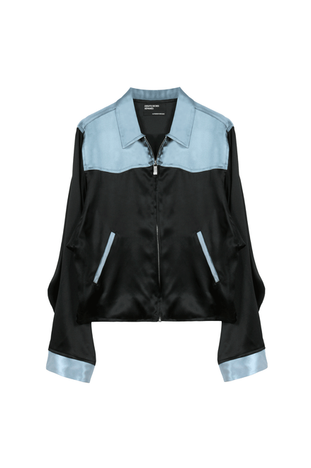 CLIMAX AT 29 WESTERN JACKET - BLACK / SILVER-BLUE