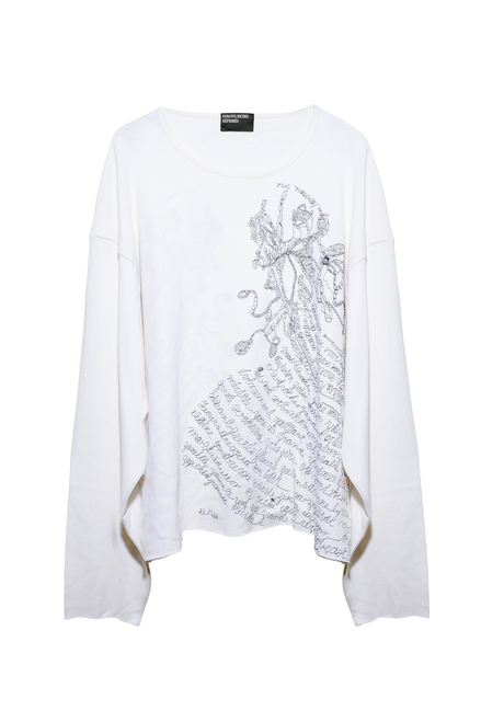 ELOISE EMBROIDERED LONGSLEEVE - FADED IVORY