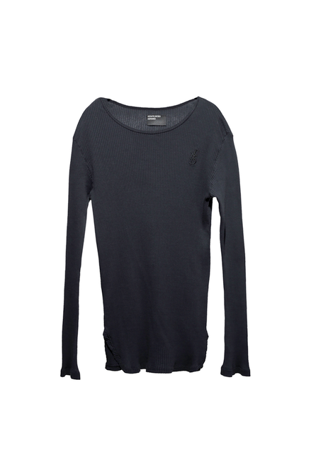 FITTED LOGO LONG SLEEVE - BLACK