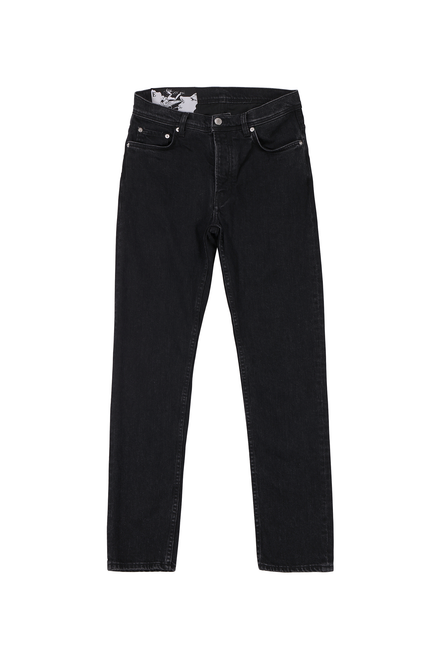 TAPERED JEANS - FADED BLACK