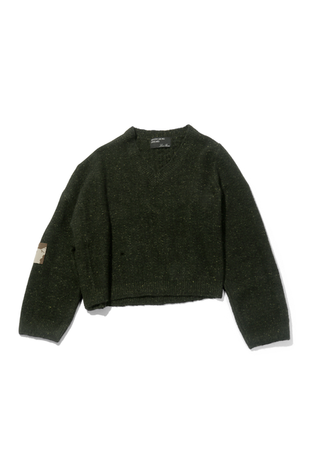 Asymmetrical Sweater - Olive