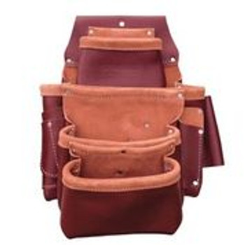 4-Pouch Professional Leather Fastener Bag