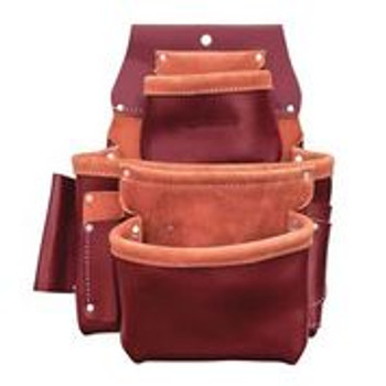 3-Pouch Pro Leather Fastener Bag w/ Holders