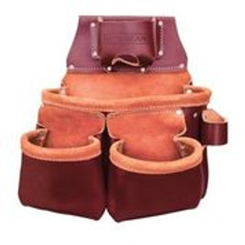 SiteGear 3-Pouch Pro Leather Tool Bag With Tape Holder