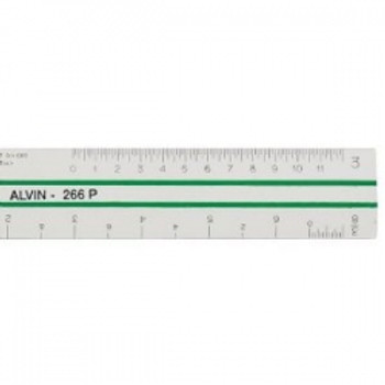 Alvin 6 in. Flat Engineers Scale  - 269P