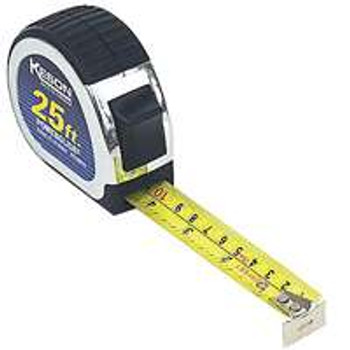 25' Keson Pocket Measuring Tape Inches & Tenths PG181025