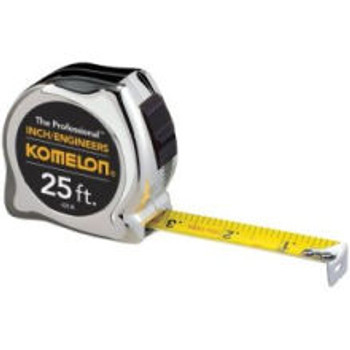 Komelon Chrome Engineers Power Tape 33 ft Inches & 10ths 433IEHV