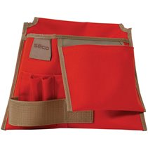 Construction-Style Tool Pouch with Rhinotek Lining 8046-20-ORG
