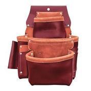 3-POUCH PRO LEATHER FASTENER BAG WITH HOLDERS