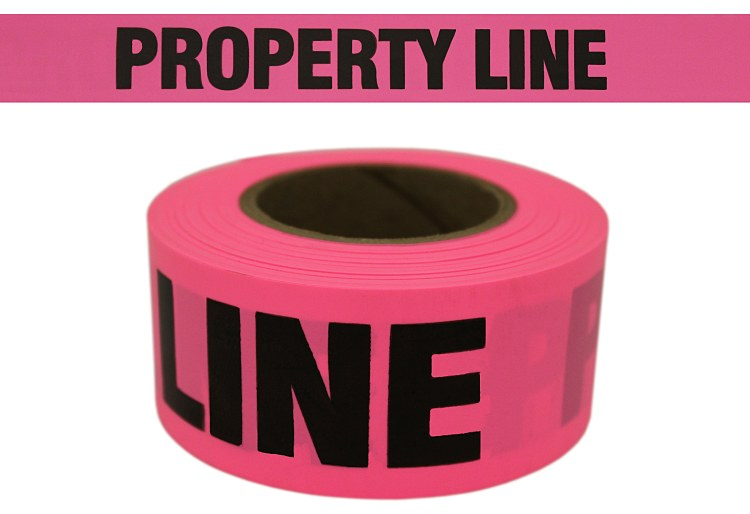 Property Line Roll Flagging Pink Glo - CUPGBK51