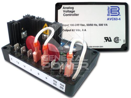 Nouveau BASLER remplacement Automatique Régulateur de tension AVC63-4 Input 190-240VAC 4 A