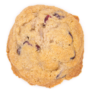 orange and cranberry gluten free and dairy free low sugar cookie