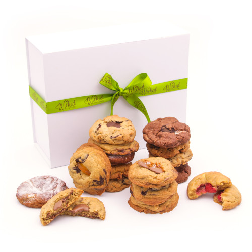 Megamix Cookie Selection in Luxury Gift Box with Hand Tied Ribbon and Bow