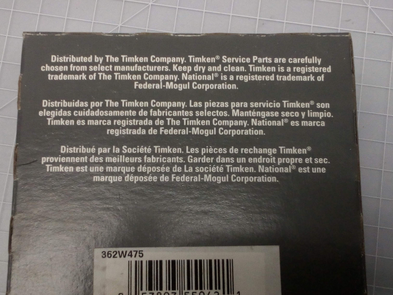 TIMKEN 362W475 Industrial Seal