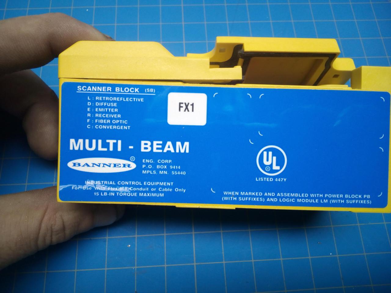 Banner Multi-beam Scanner Block 16652 Sbfx1 - P01-000092