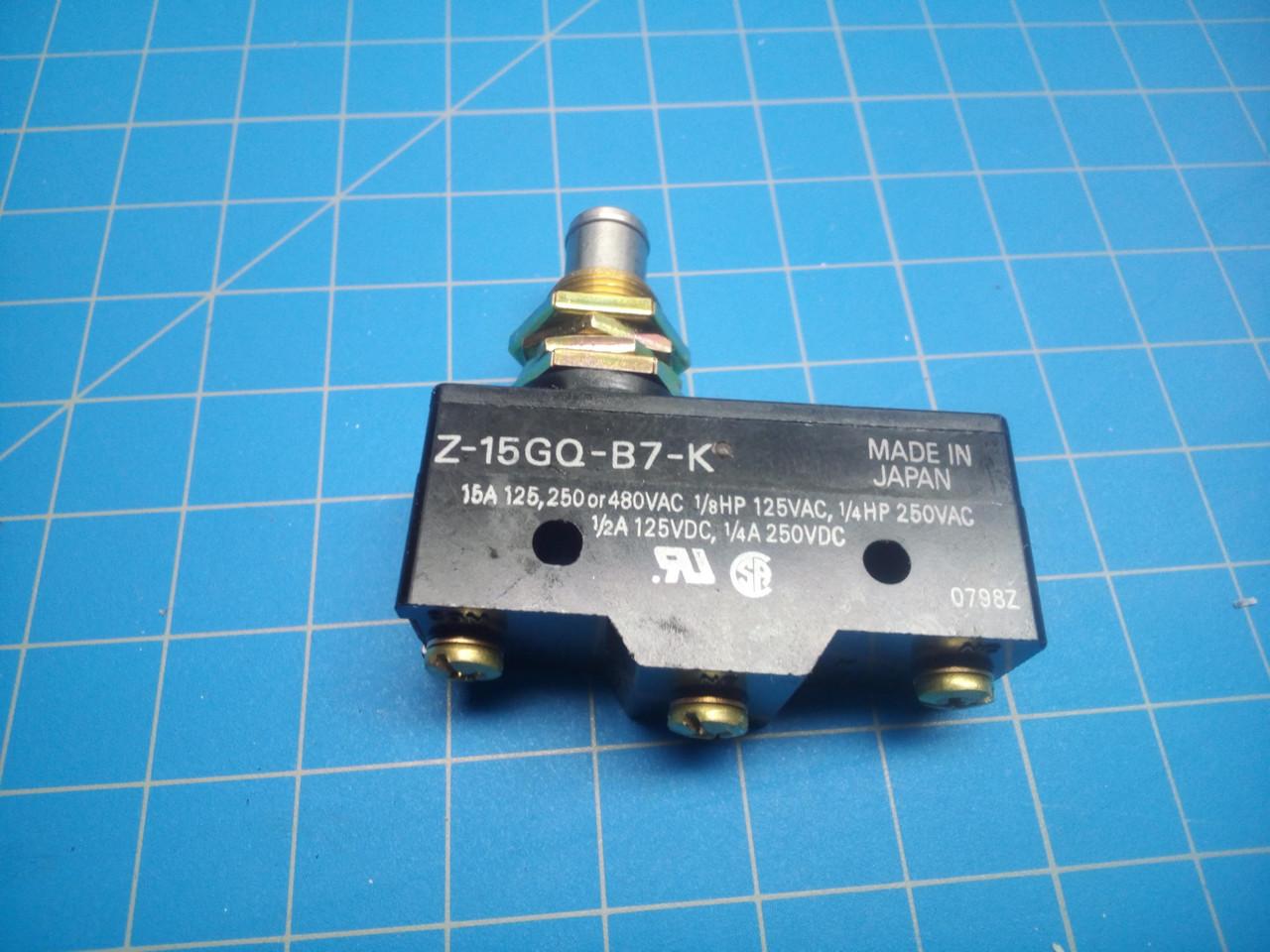 Omron Snap Switch Z-15GQ-B7-K - P01-000136