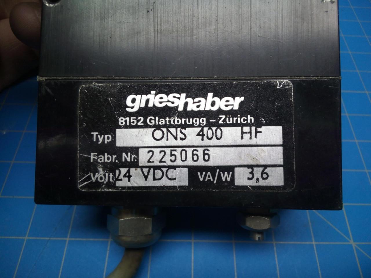Grieshaber ONS 400 HF - P02-000172