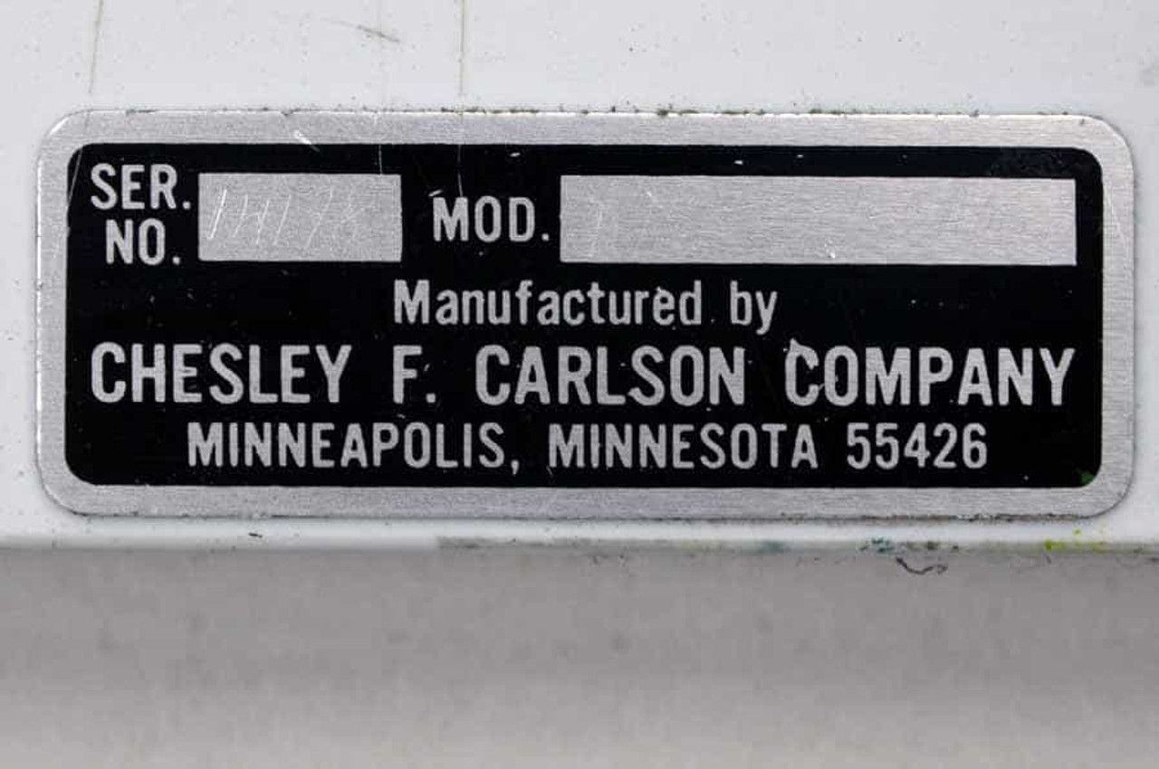 Chesley F. Carlson Plate Punch